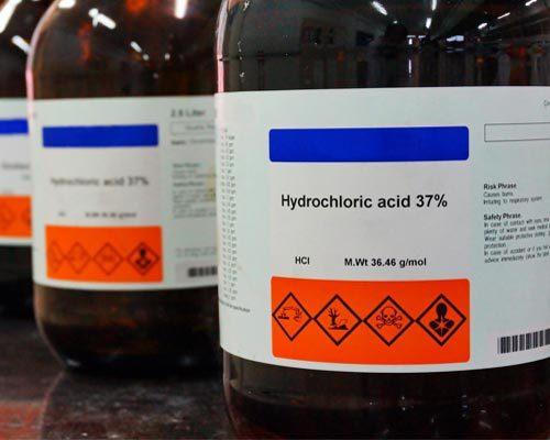جوهر نمک, اسید کلریدریک, هیدروکلریک اسید, Hydrochloric acid,